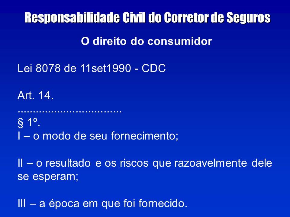 O direito do consumidor Lei 8078 de 11set1990 - CDC Art.