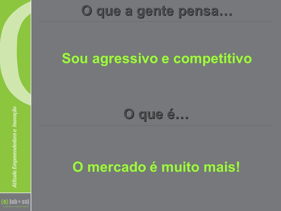 O que a gente pensa… O que é… Sou agressivo e competitivo O mercado é muito mais!
