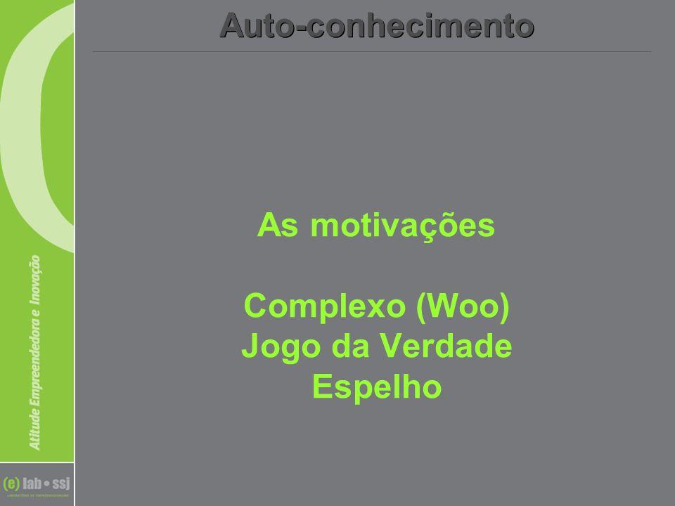 As motivações Complexo (Woo) Jogo da Verdade Espelho Auto-conhecimento