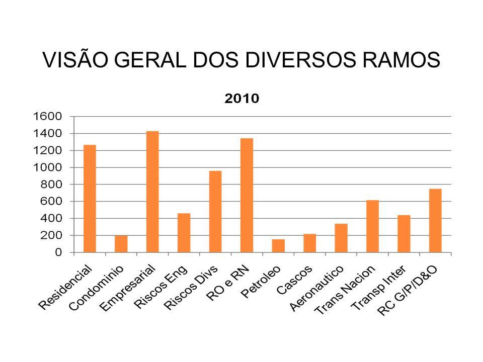 VISÃO GERAL DOS DIVERSOS RAMOS