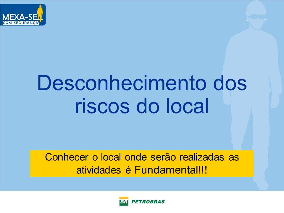 Desconhecimento dos riscos do local Conhecer o local onde serão realizadas as atividades é Fundamental!!!