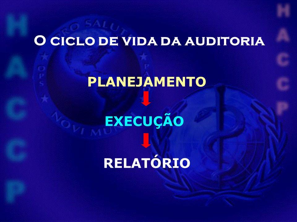 PLANEJAMENTO EXECUÇÃO RELATÓRIO O ciclo de vida da auditoria