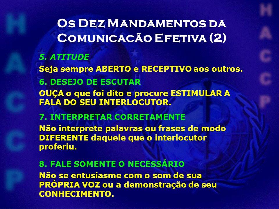 Os Dez Mandamentos da Comunicação Efetiva (3) 10.CORAGEM Não tenha medo de MUDAR.
