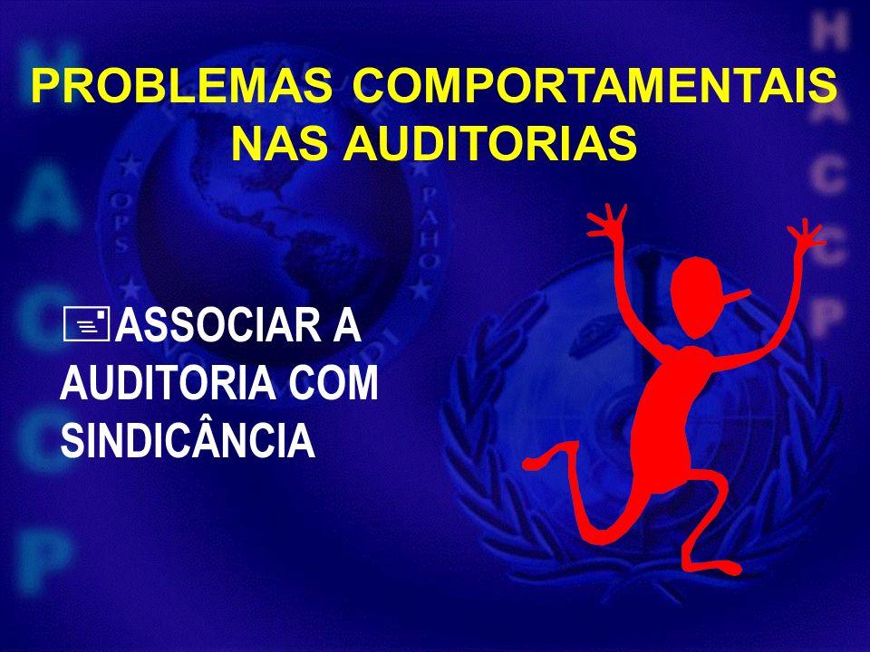 PROBLEMAS COMPORTAMENTAIS NAS AUDITORIAS ASSOCIAR A AUDITORIA COM SINDICÂNCIA