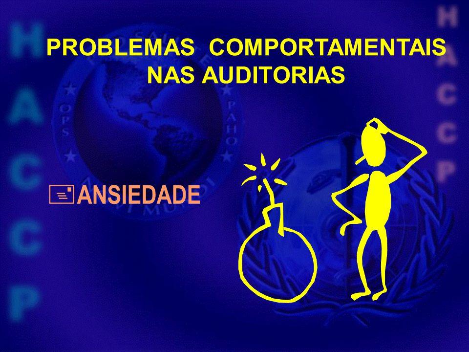 PROBLEMAS COMPORTAMENTAIS NAS AUDITORIAS ANSIEDADE