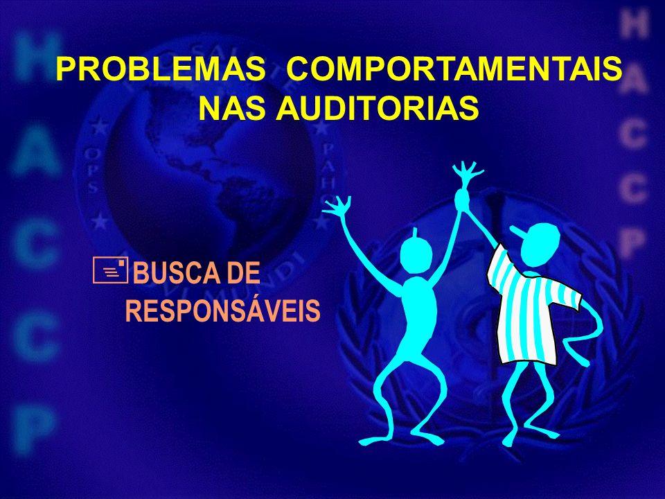 PROBLEMAS COMPORTAMENTAIS NAS AUDITORIAS BUSCA DE RESPONSÁVEIS