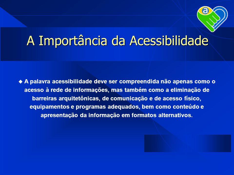 Acessibilidade Brasil www.acessobrasil.org.br Faculdade de Saúde Pública – USP www.fsp.usp.br/acessibilidade Centro de Engenharia de Reabilitação em tecnologias de Informação e Comunicação www.acessibilidade.net Endere ç os de alguns s í tios sobre acessibilidade