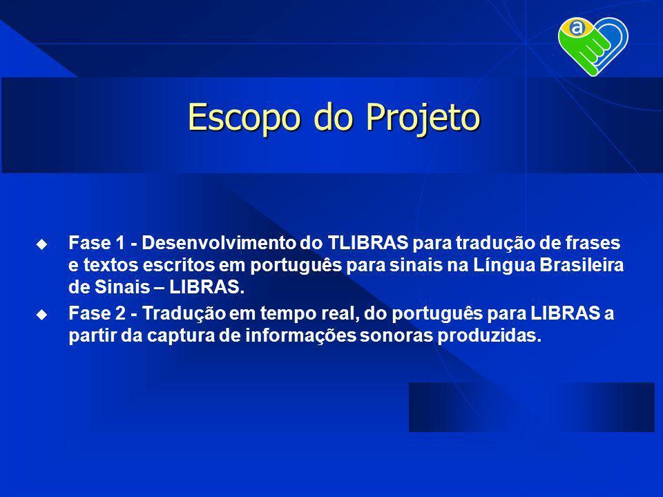 Escopo do Projeto Fase 1 - Desenvolvimento do TLIBRAS para tradução de frases e textos escritos em português para sinais na Língua Brasileira de Sinai