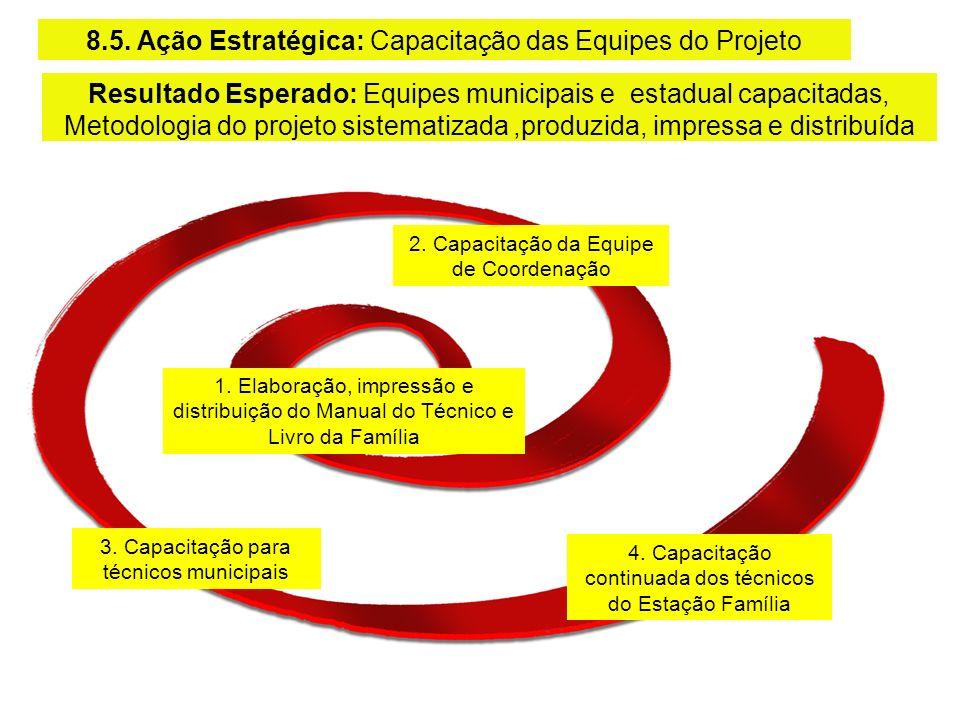 8.Relatõrio de processo e de resultados.7.Alimentação de dados do sistema de monitoramento 6.