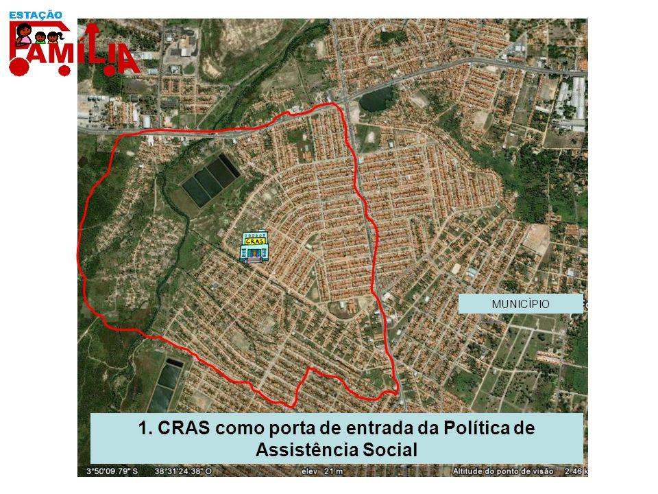 1. CRAS como porta de entrada da Política de Assistência Social MUNICÍPIO