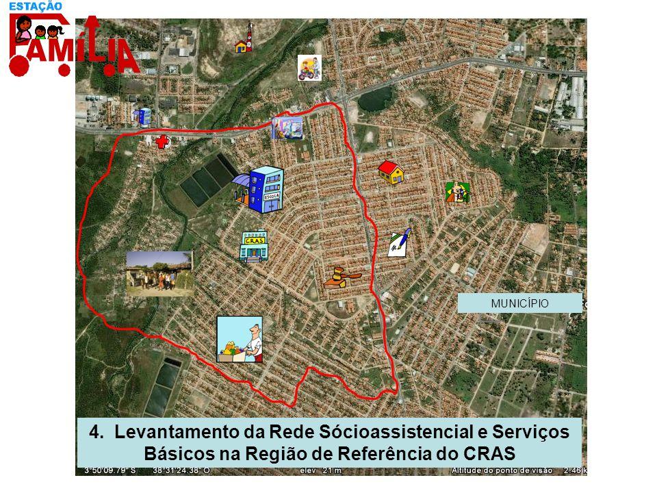 4. Levantamento da Rede Sócioassistencial e Serviços Básicos na Região de Referência do CRAS MUNICÍPIO