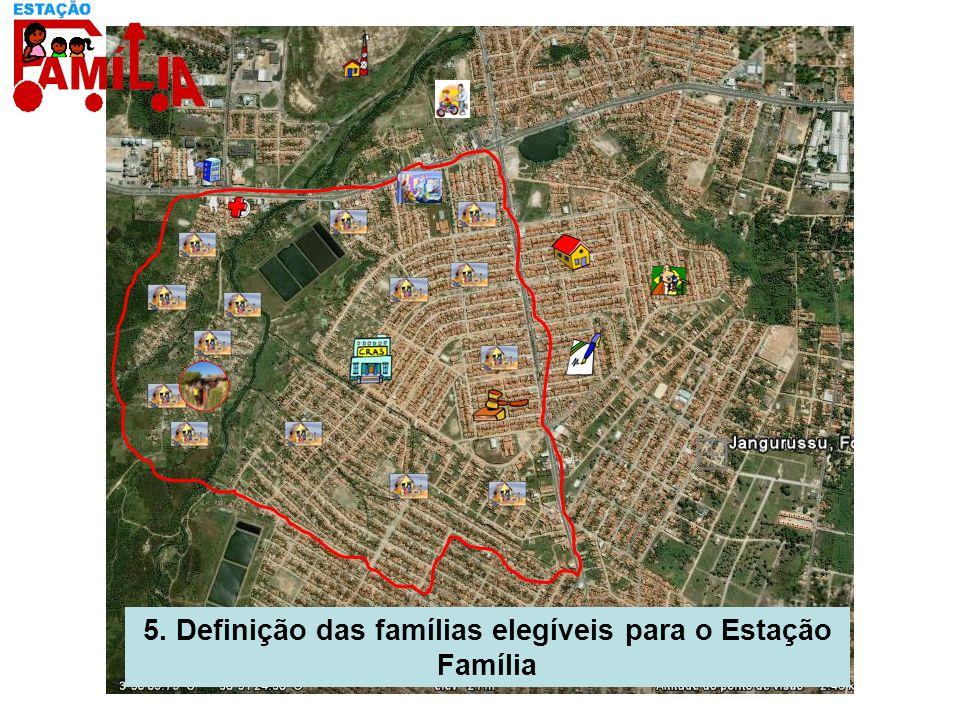 5. Definição das famílias elegíveis para o Estação Família