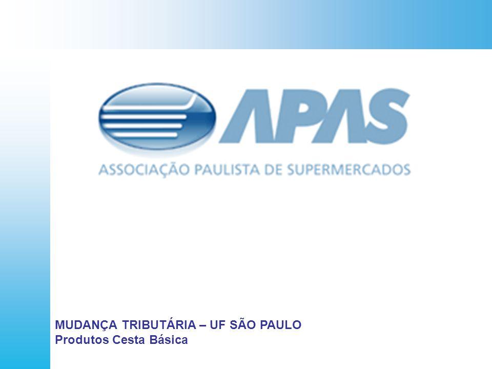 O QUE É A APAS MUDANÇA TRIBUTÁRIA – UF SÃO PAULO Produtos Cesta Básica