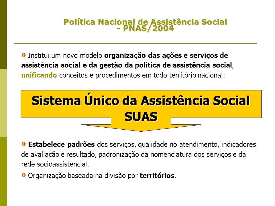 Institui um novo modelo organização das ações e serviços de assistência social e da gestão da política de assistência social, unificando conceitos e p