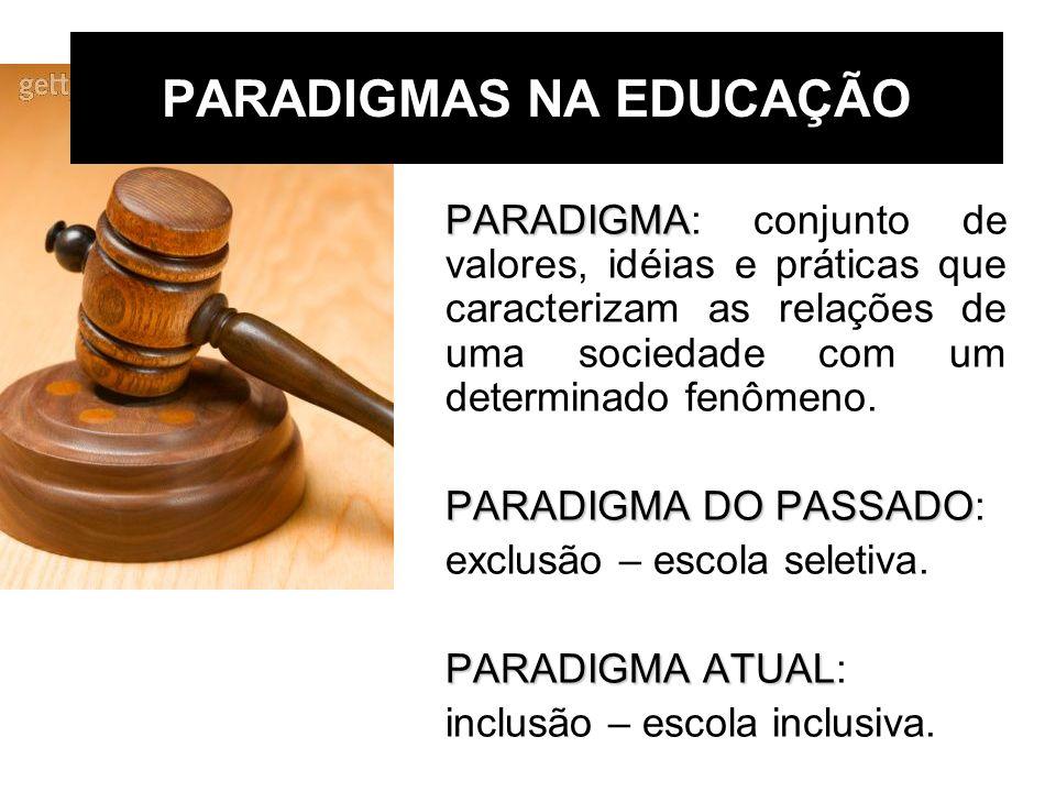 PARADIGMAS NA EDUCAÇÃO PARADIGMA PARADIGMA: conjunto de valores, idéias e práticas que caracterizam as relações de uma sociedade com um determinado fe