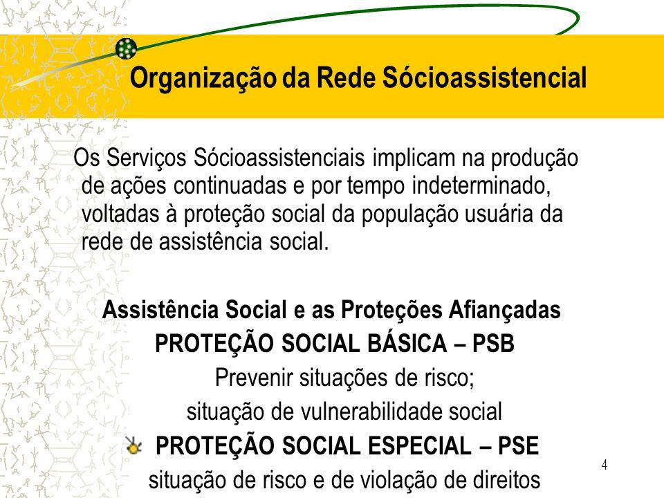 4 Os Serviços Sócioassistenciais implicam na produção de ações continuadas e por tempo indeterminado, voltadas à proteção social da população usuária