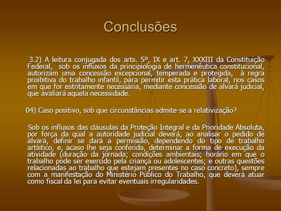 Conclusões 3.2) A leitura conjugada dos arts.5º, IX e art.