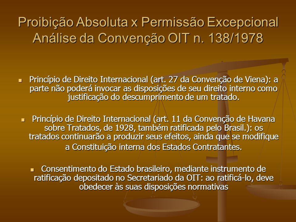 Conclusões 01) Existe proibição ao trabalho artístico de crianças e adolescentes menores de 16 anos.