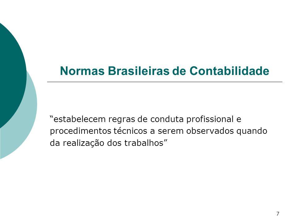 7 Normas Brasileiras de Contabilidade estabelecem regras de conduta profissional e procedimentos técnicos a serem observados quando da realização dos