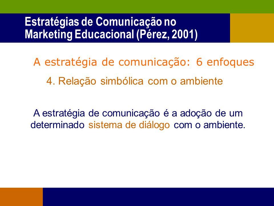 A estratégia de comunicação: 6 enfoques 3. Metodologia A estratégia de comunicação é o método ou conjunto de métodos que utiliza o comunicador e sua e
