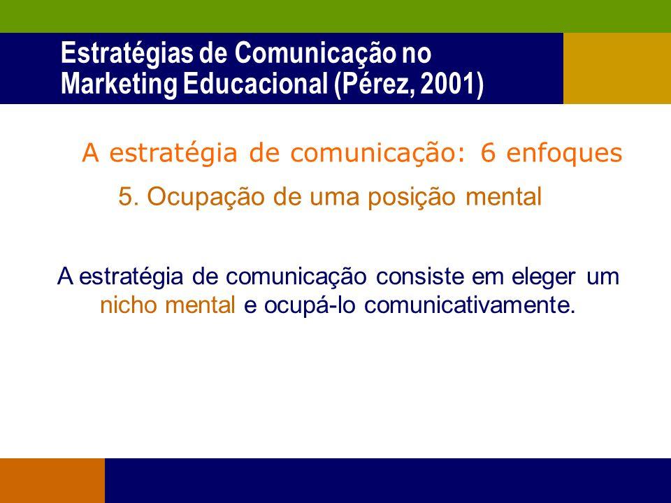 A estratégia de comunicação: 6 enfoques 4. Relação simbólica com o ambiente A estratégia de comunicação é a adoção de um determinado sistema de diálog