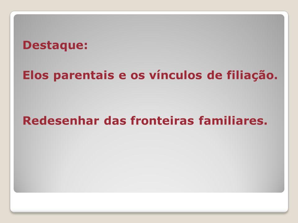 Destaque: Elos parentais e os vínculos de filiação. Redesenhar das fronteiras familiares.