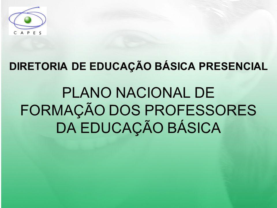 Diretoria de Educação Básica Presencial Plano Nacional de Formação dos Professores da Educação Básica FINANCIAMENTO DO PARFOR 1.