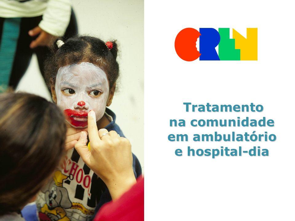 Tratamento Tratamento na comunidade em ambulatório e hospital-dia
