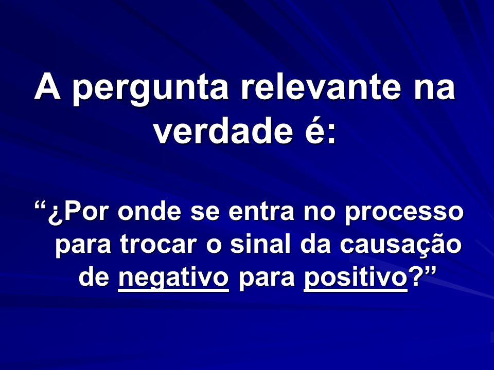A pergunta relevante na verdade é: ¿Por onde se entra no processo para trocar o sinal da causação de negativo para positivo?