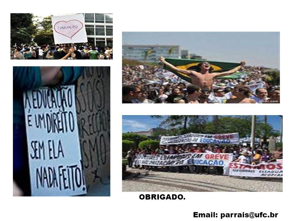 OBRIGADO. Email: parrais@ufc.br