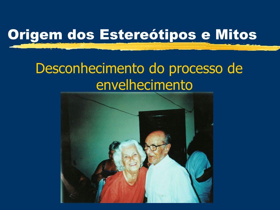 Origem dos Estereótipos e Mitos Desconhecimento do processo de envelhecimento
