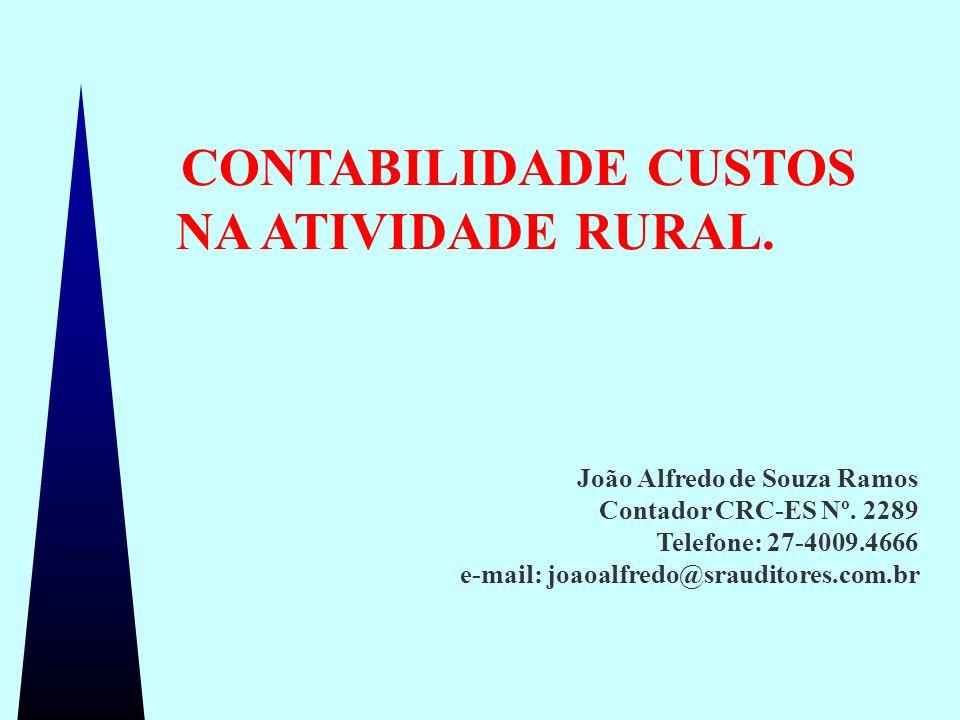 Contabilidade de Custos na Atividade Rural 1 / 26 João Alfredo de Souza Ramos Contador CRC-ES Nº. 2289 Telefone: 27-4009.4666 e-mail: joaoalfredo@srau