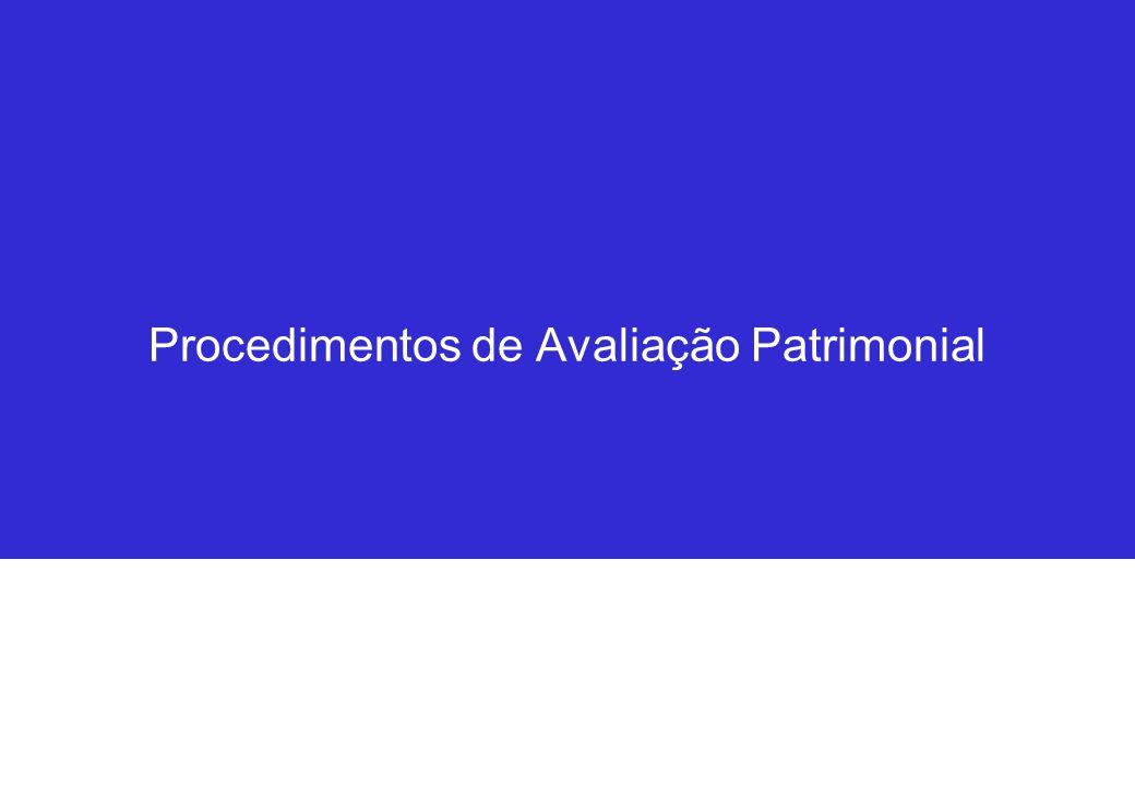 Procedimentos de Avaliação Patrimonial