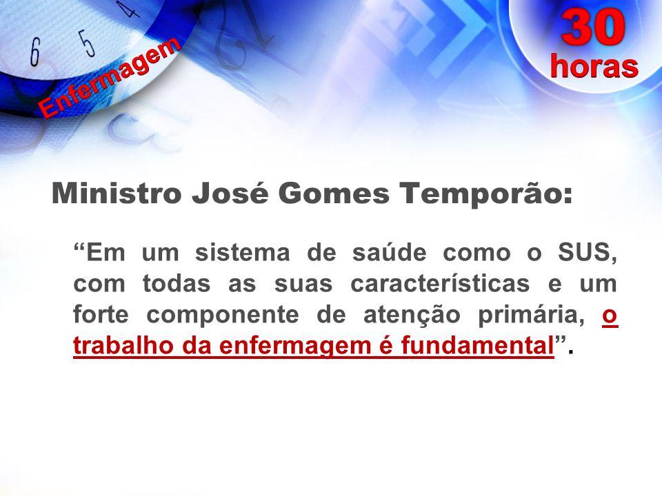 Ministro José Gomes Temporão: Em um sistema de saúde como o SUS, com todas as suas características e um forte componente de atenção primária, o trabal