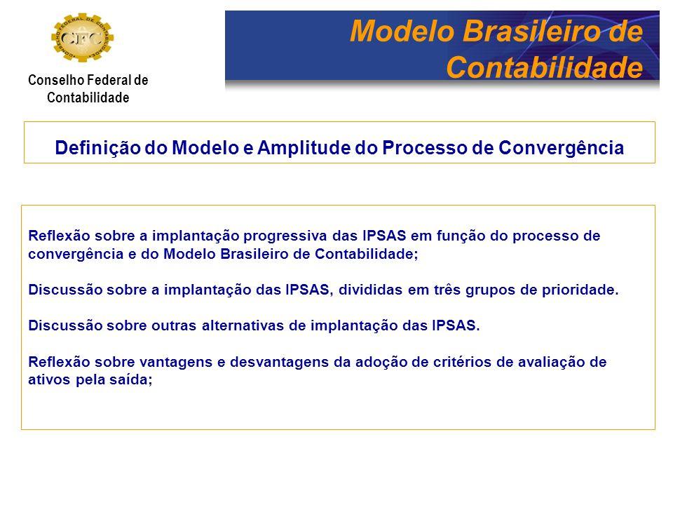 Modelo Brasileiro de Contabilidade Conselho Federal de Contabilidade Definição do Modelo e Amplitude do Processo de Convergência Reflexão sobre a impl