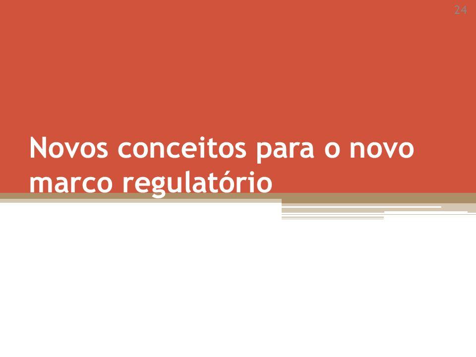24 Novos conceitos para o novo marco regulatório
