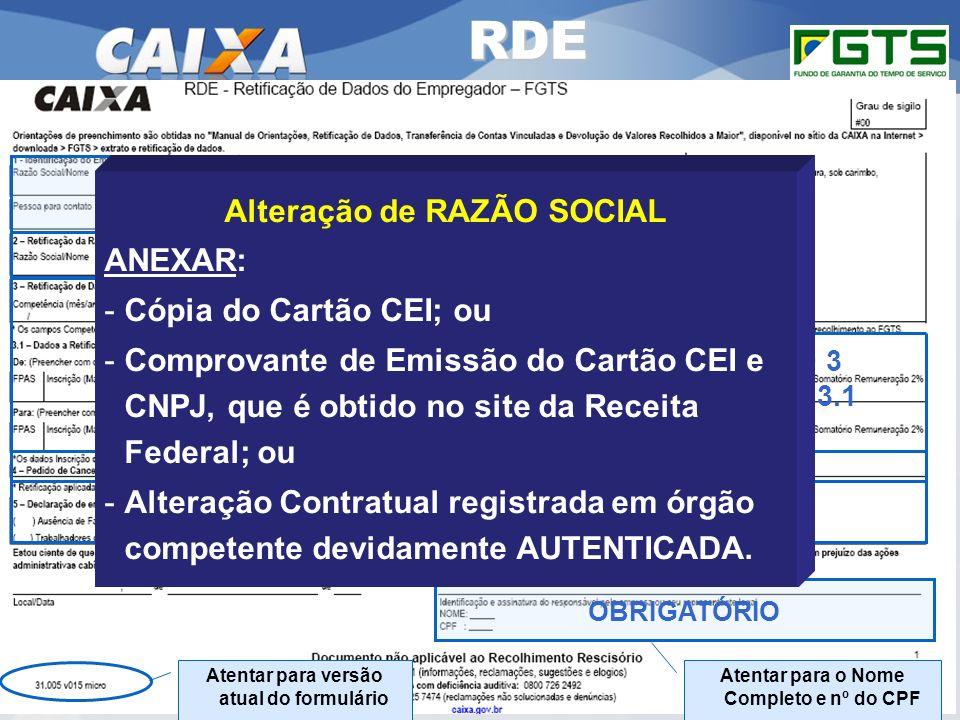 Planejamento Estratégico SUFUG 2009 OBRIGATÓRIO Atentar para o Nome Completo e nº do CPF Atentar para versão atual do formulário RDE É OBRIGATÓRIO O P