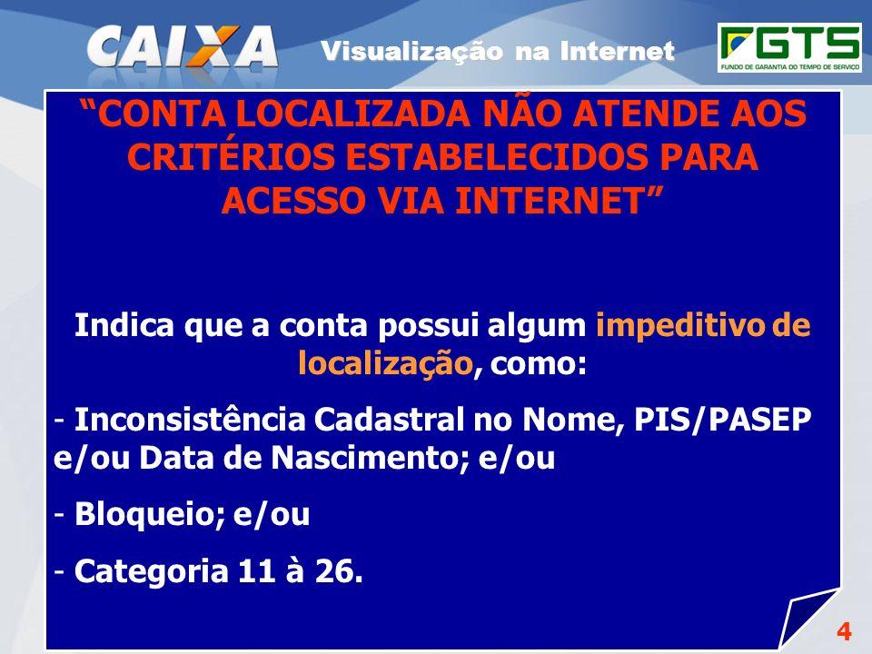 Planejamento Estratégico SUFUG 2009 4 RSN – ADMINISTRAR FGTS CUIABÁ/MT Para estar disponível na Internet a conta vinculada FGTS deve basicamente: Esta