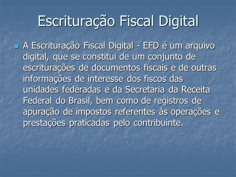 Legislação Convênio ICMS nº 143, de 15 de dezembro de 2006 - Institui a Escrituração Fiscal Digital – EFD Protocolo ICMS 77 – Restringe a obrigatoriedade da EFD prevista no Convênio ICMS 143/06.