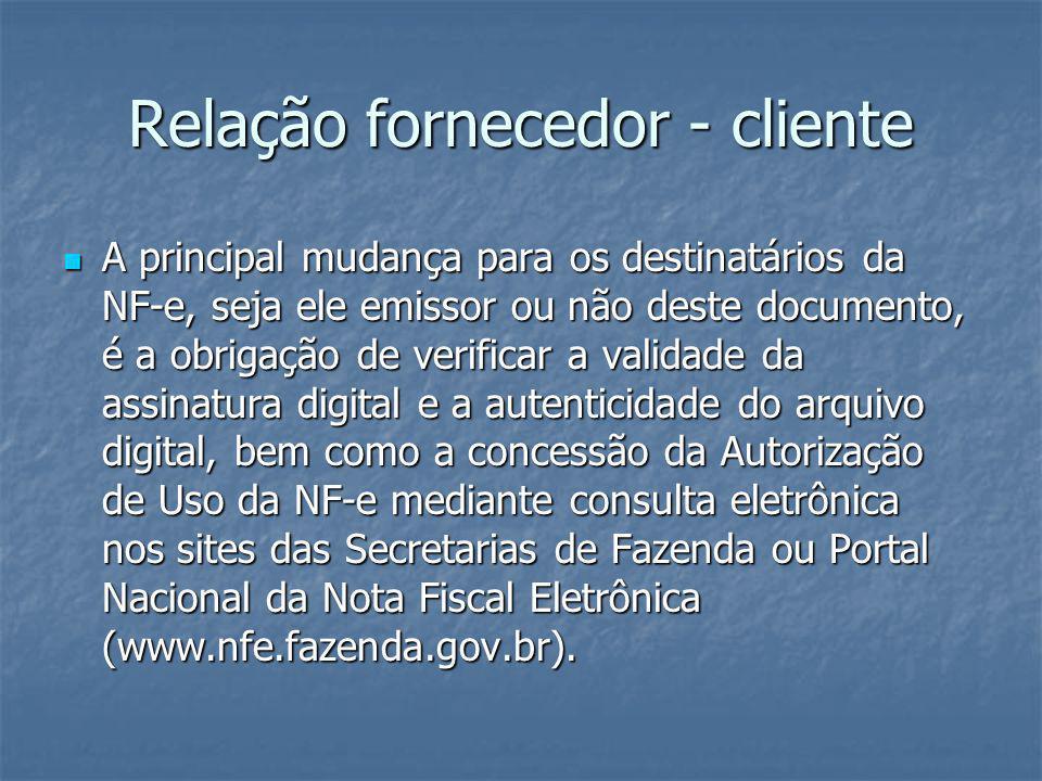 Obrigados a emissão de NFe Ver protocolo 42/2009 Ver protocolo 42/2009
