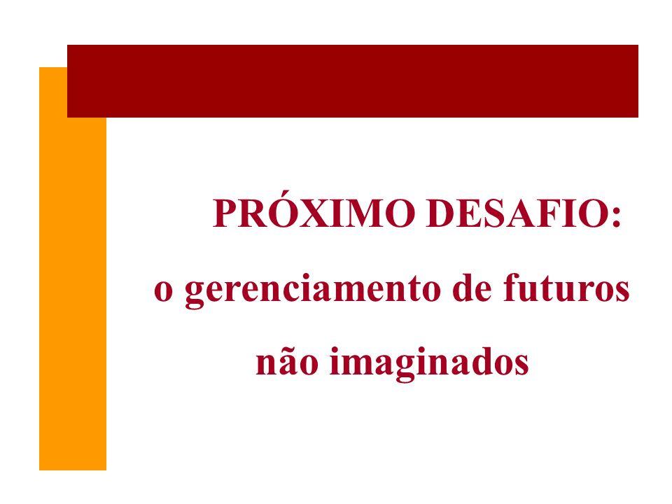 PRÓXIMO DESAFIO: o gerenciamento de futuros não imaginados