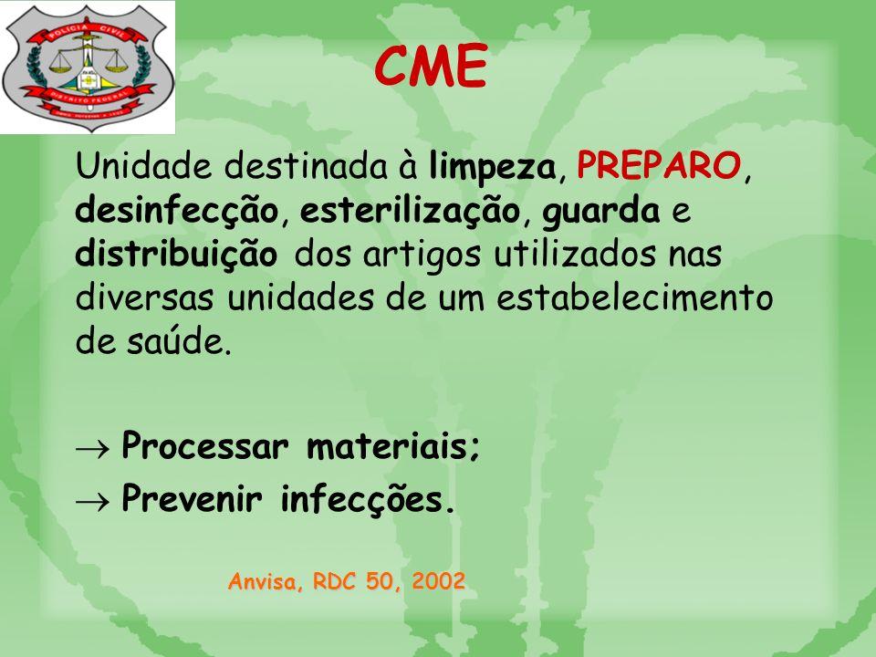 Unidade destinada à limpeza, PREPARO, desinfecção, esterilização, guarda e distribuição dos artigos utilizados nas diversas unidades de um estabelecimento de saúde.