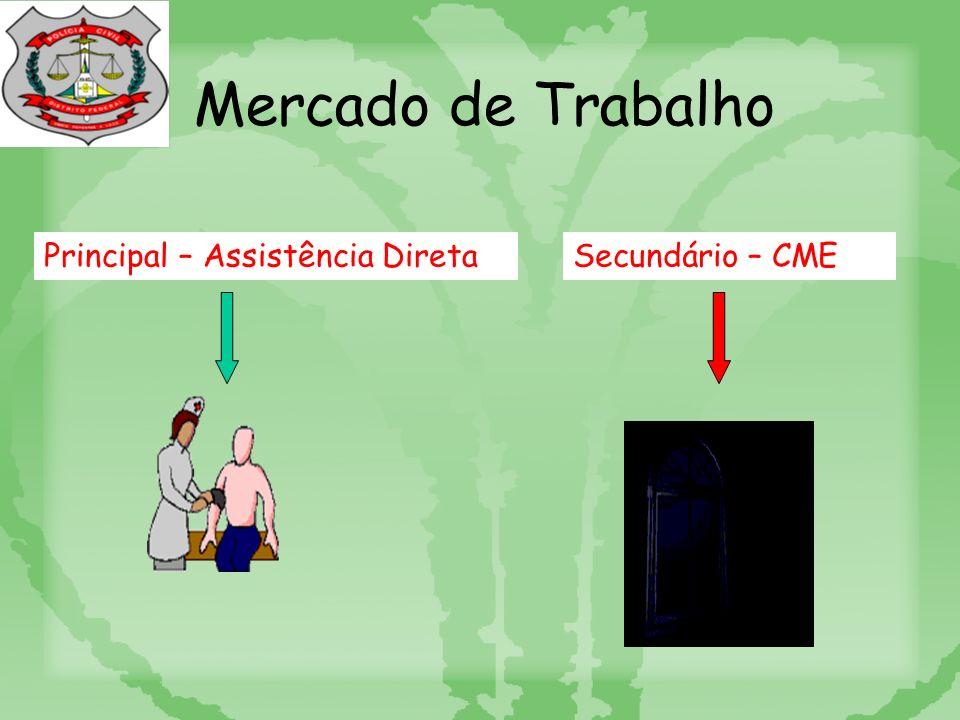 Mercado de Trabalho Principal – Assistência DiretaSecundário – CME