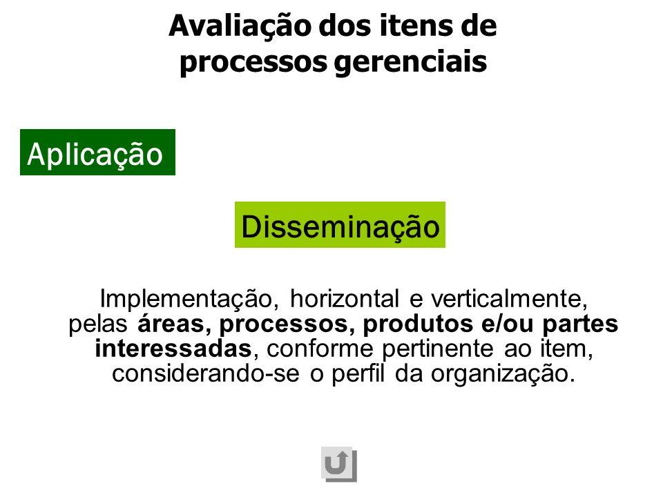 Implementação, horizontal e verticalmente, pelas áreas, processos, produtos e/ou partes interessadas, conforme pertinente ao item, considerando-se o p