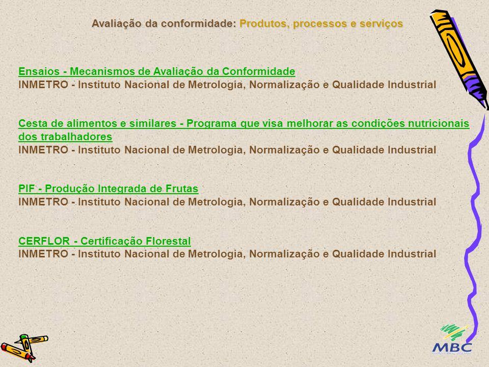 Avaliação da conformidade: Produtos, processos e serviços Ensaios - Mecanismos de Avaliação da Conformidade Ensaios - Mecanismos de Avaliação da Confo