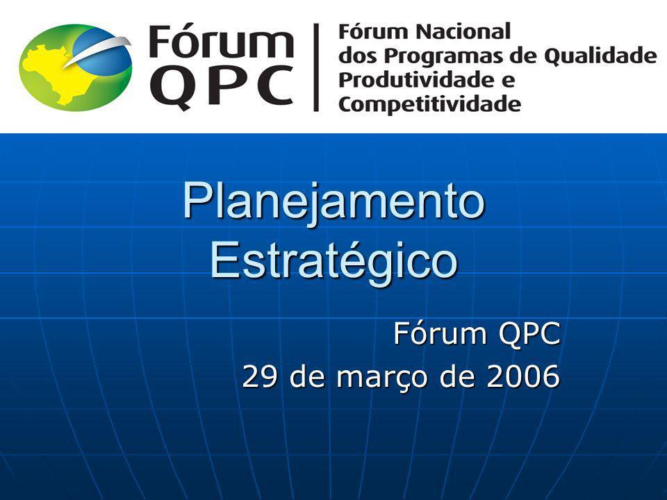 Planejamento Estratégico Fórum QPC 29 de março de 2006 29 de março de 2006