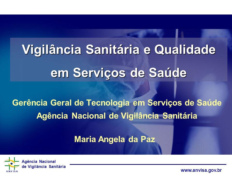 Agência Nacional de Vigilância Sanitária www.anvisa.gov.br Vigilância Sanitária e Qualidade em Serviços de Saúde Gerência Geral de Tecnologia em Servi
