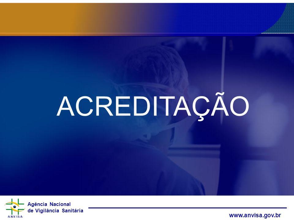 Agência Nacional de Vigilância Sanitária www.anvisa.gov.br ACREDITAÇÃO