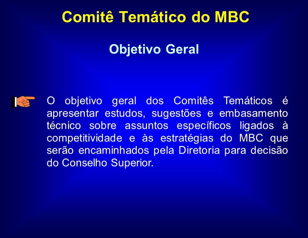 Cronograma de Trabalho AtividadeData Primeira Reunião do Comitê05/04/06 Segunda Reunião do Comitê26/05/06 Terceira Reunião do Comitê05/07/06 Quarta Reunião do Comitê25/08/06 Quinta Reunião do Comitê05/10/06 Sexta Reunião do Comitê01/12/06 Consolidação das conclusões do ComitêDezembro Preparação do Relatório do ComitêJaneiro Reunião para Validação do RelatórioFevereiro Apresentação das conclusões do Comitê ao MBCMarço Envio do Relatório Final do Comitê ao MBCMarço