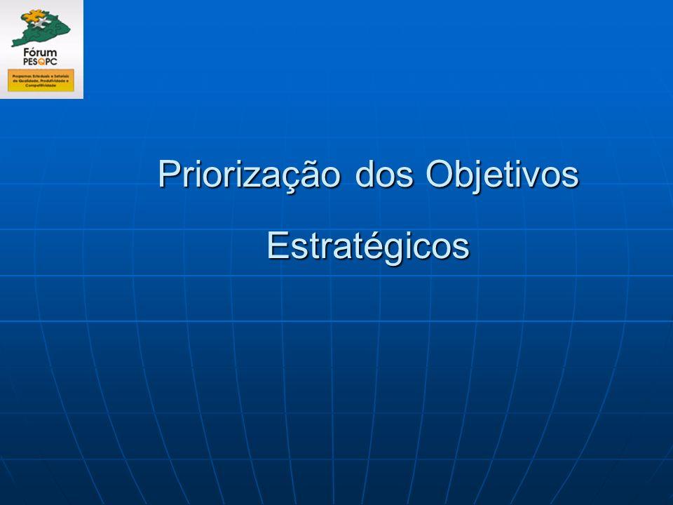 Priorização dos Objetivos Estratégicos